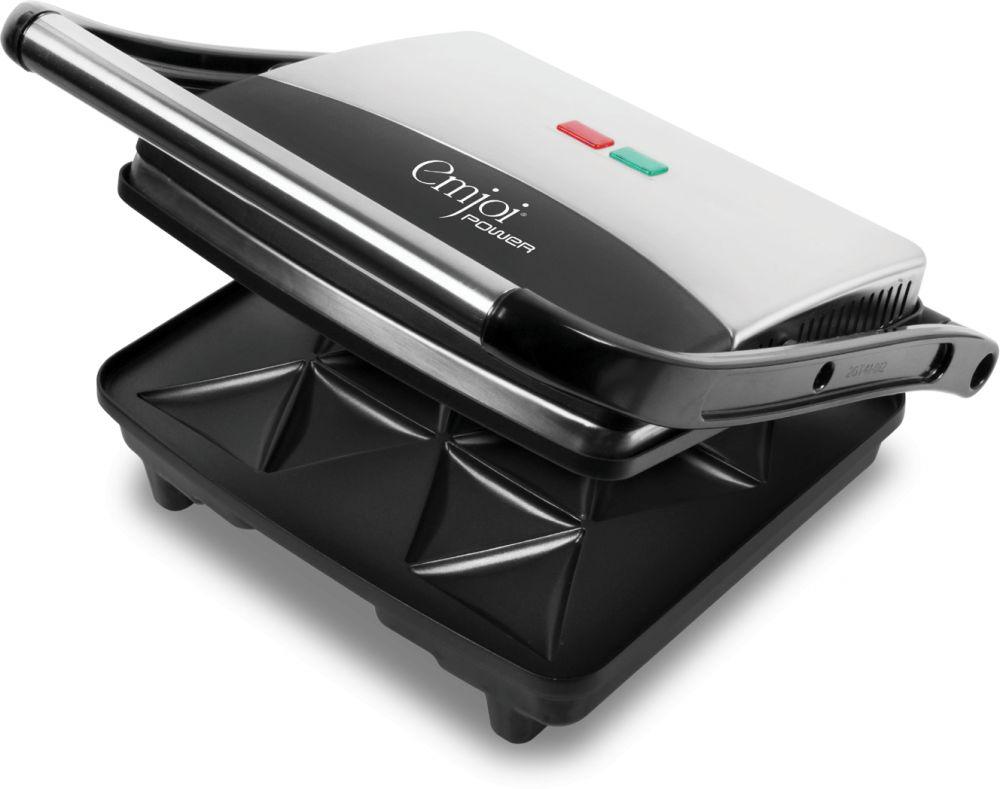 Emjoi Power Sambossa Grill, Non Stick Plate, 1500 Watts - Uesg-361, Silver