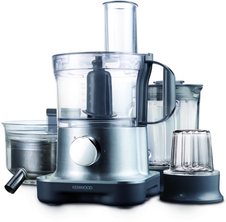 Kenwood FPM270 MultiPro Compact Food Processor 28 functions , Silver, Plastic