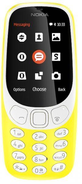 Nokia 3310 2017 Dual SIM - 16MB, 2G, 2 MP, Yellow