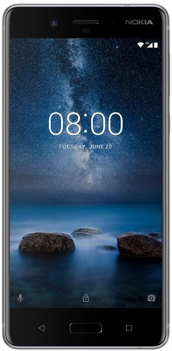 Nokia 8 Dual SIM - 64GB, 4GB RAM, 4G LTE, Steel