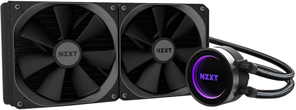 NZXT Kraken X62 All in One CPU Liquid Cooling System Cooling Pad, Black - RL -KRX62 -02