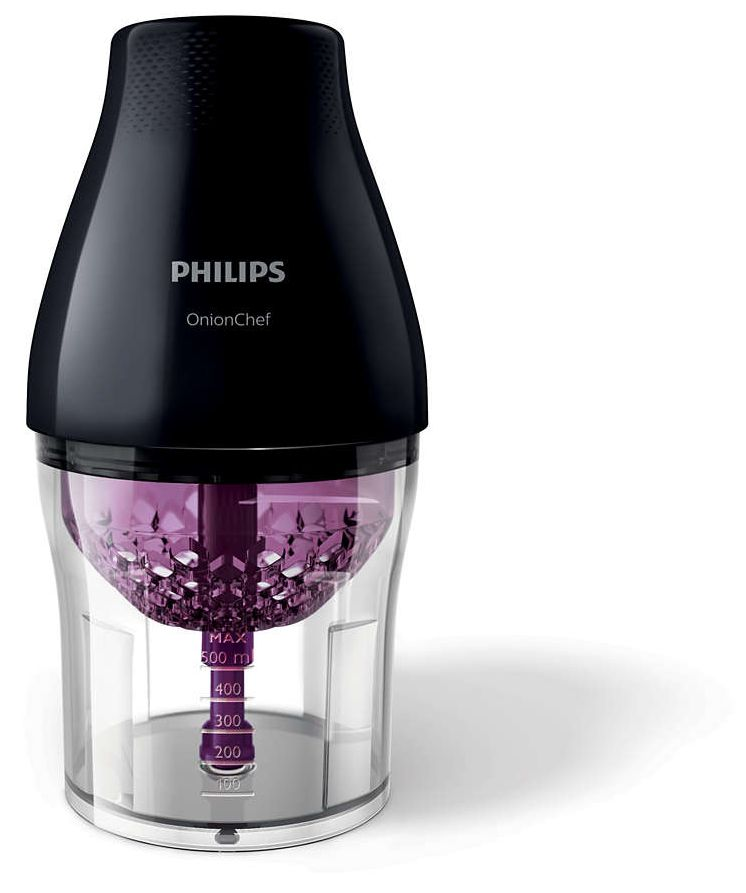 Philips Viva Collection onion Chef Chopper Chop Drop - HR2505/91, Black, Plastic