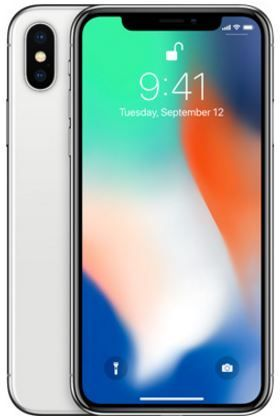 Apple Iphone X With Facetime - 64 GB, 4G LTE, Silver, 3 GB Ram, Single Sim