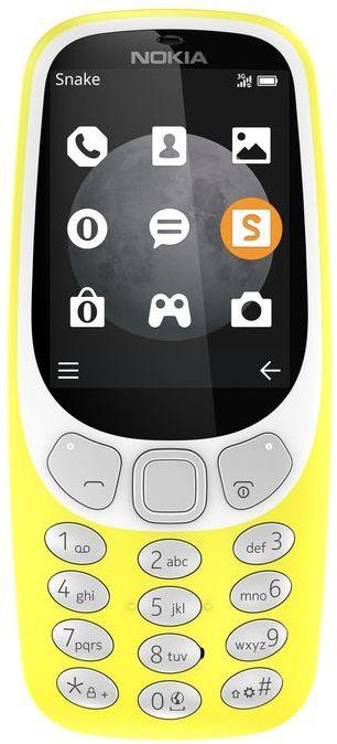 Nokia 3310 3G Dual SIM - 128MB, 64MB RAM, 3G, Yellow