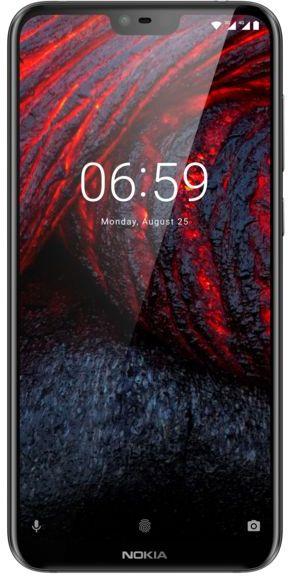Nokia 6.1 Plus Dual Sim - 64 GB, 4 GB Ram, 4G LTE, Black, N61Pds64 GB4G