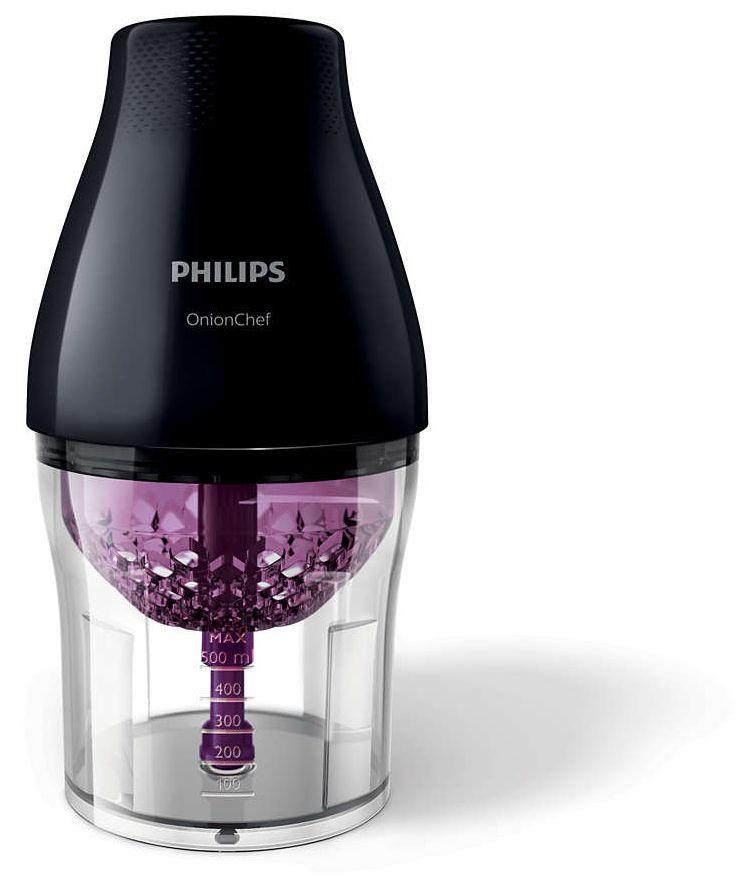 Philips Viva Collection onion Chef Chopper Chop Drop - HR2505/91, Black, Plastic
