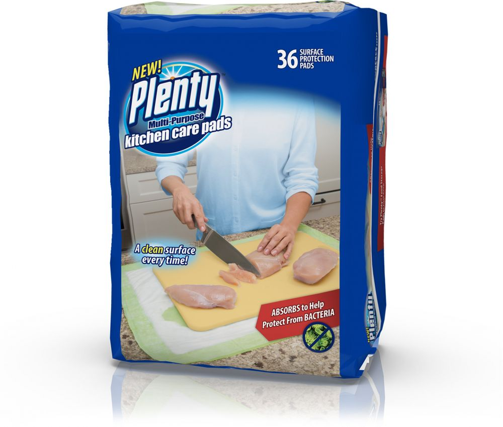 Plenty Multipurpose Kitchen Care Pads, 36 Count