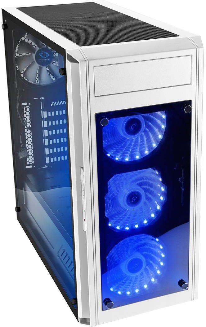 RAIDMAX Alpha Prime White RGB Mid Tower window Case