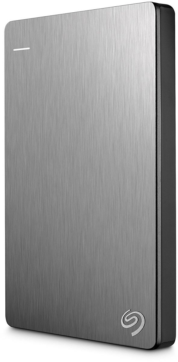 Seagate 2 TB Backup Plus USB 3.0 Slim Portable Hard Drive - Silver [STDR2000201]