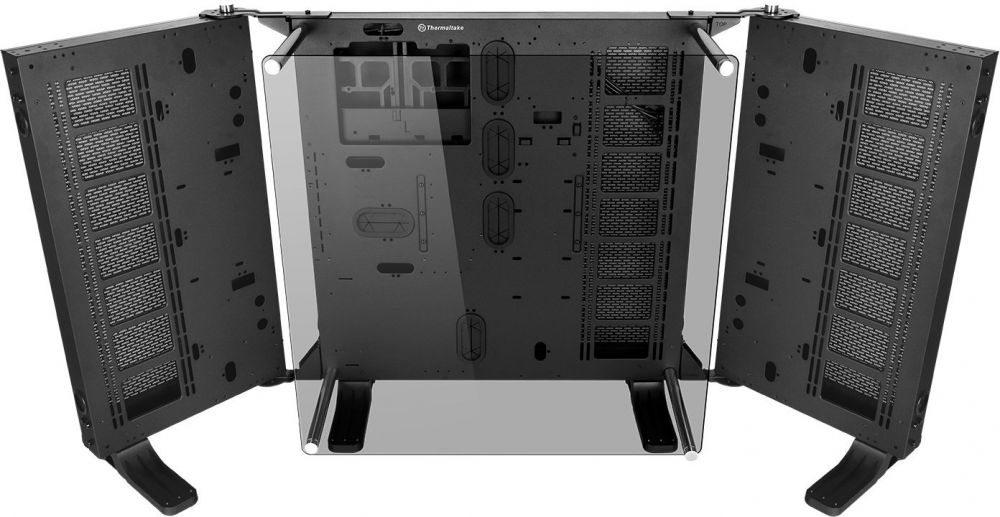 Thermaltake Core P7 Tempered Glass Edition E-ATX Open Frame Panoramic Viewing Tt LCS Certified Gaming Computer Chassis CA-1I2-00F1WN-00