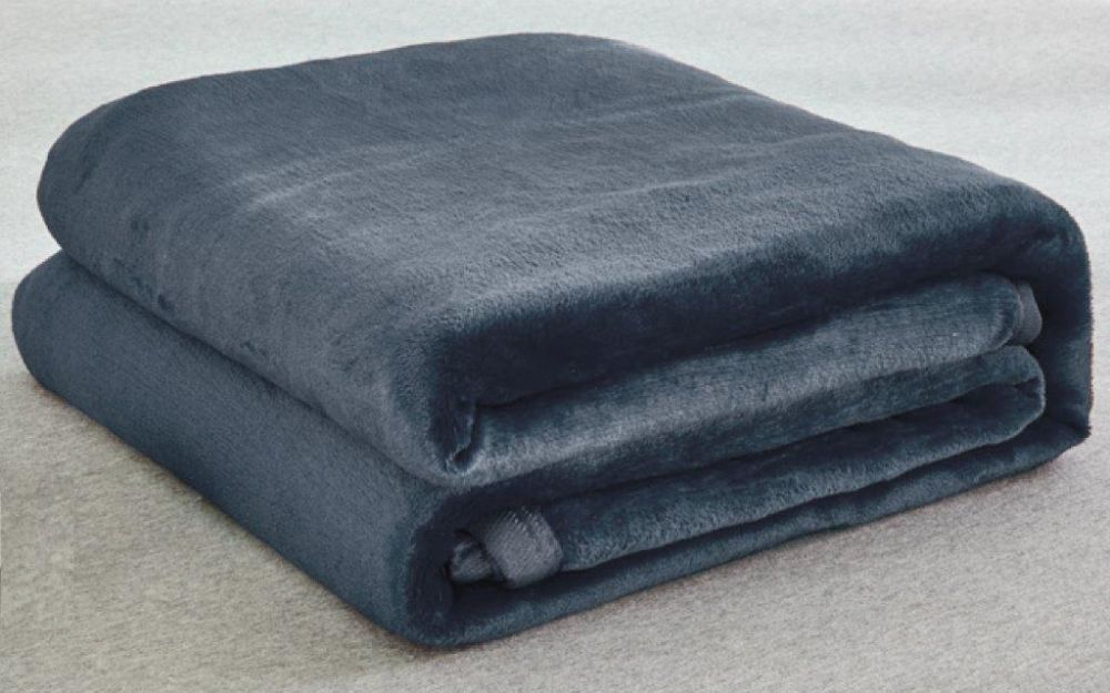 سفر تيكستيل بطانية سرير، فانيلي، كينغ، 200*240 سم - رمادي