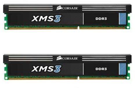 Corsair Memory CMX8GX3M2A1600C9 XMS3 8GB (2x4GB) DDR3 1600 MHz (PC3 12800) Desktop Memory 1.65V