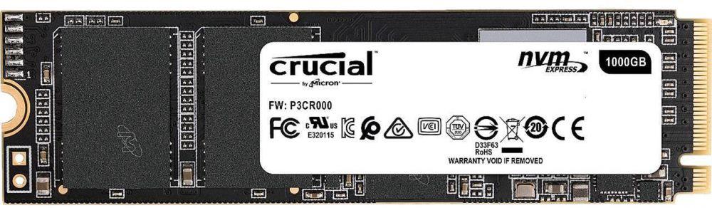 Crucial SSD P1 1TB 3D NAND NVMe PCIe M.2 SSD