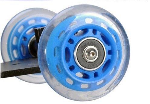 DSLR Camera Mini Aluminum Slide Rail Dolly Car with Universal ¼ inch Camera Mount Screw Gopro - BLUE