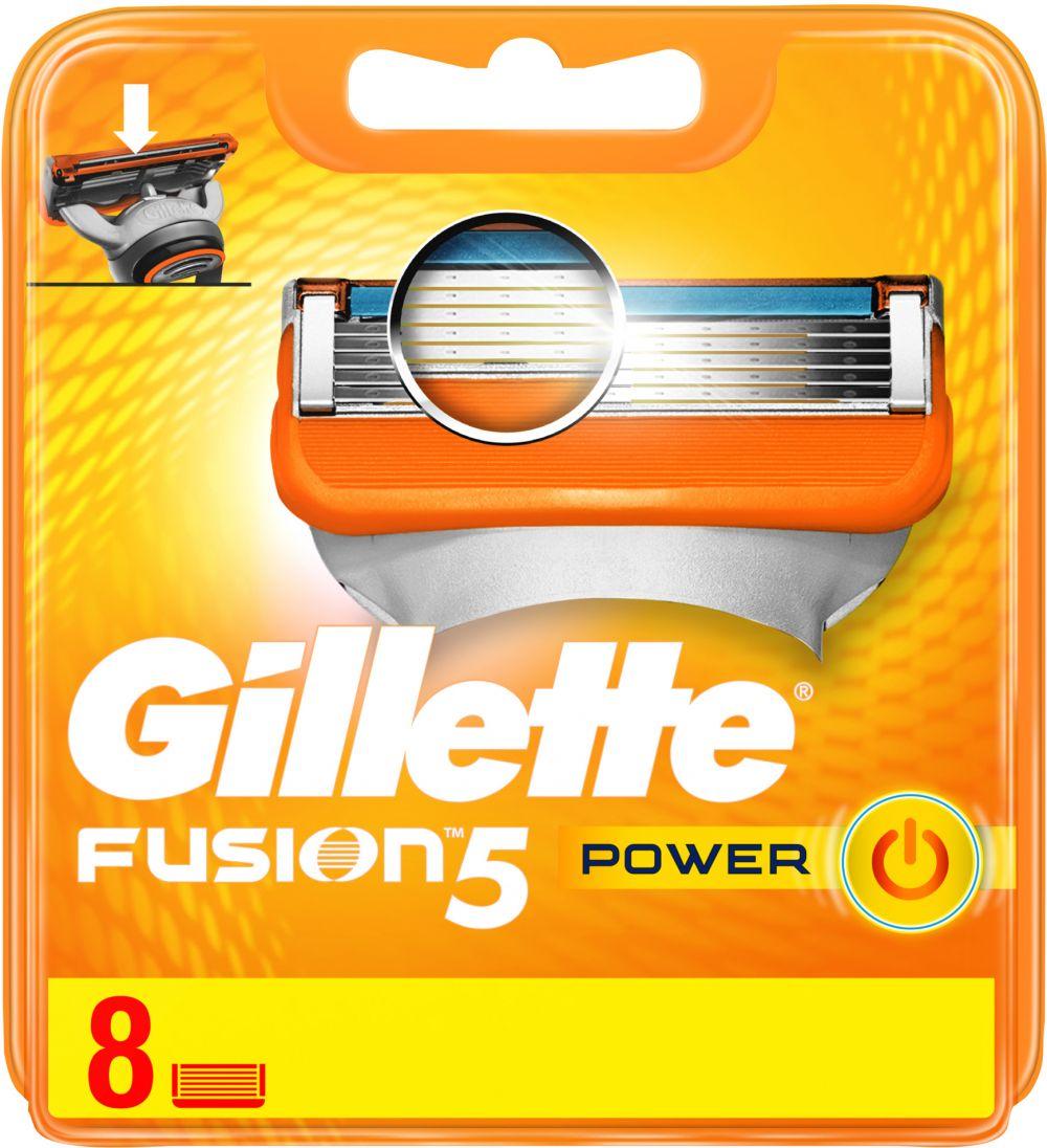 Gillette Fusion Power men's razor blade refills, 8 count