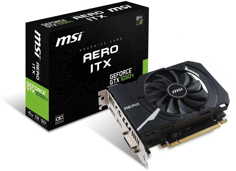 MSI GAMING GeForce GTX 1050 Ti 4GB GDRR5 128-bit HDCP Support DirectX 12 ITX OC Graphics Card (GTX 1050 TI AERO ITX 4G OC)