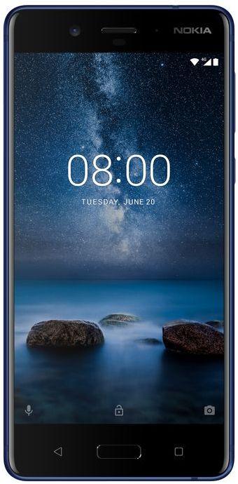 Nokia 8 Dual SIM - 64GB, 4GB RAM, 4G LTE, Tempered Blue