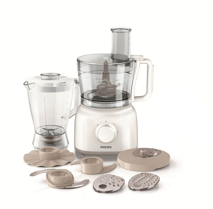 Philips Food Processor 650 Watts White, HR7628, Mixed Material