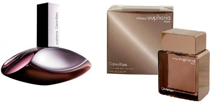 Set of 2 Pieces Calvin Klein Euphoria for Women, EDP, 100ml With Calvin Klein Euphoria Men Intense for Men, 100ml, EDT