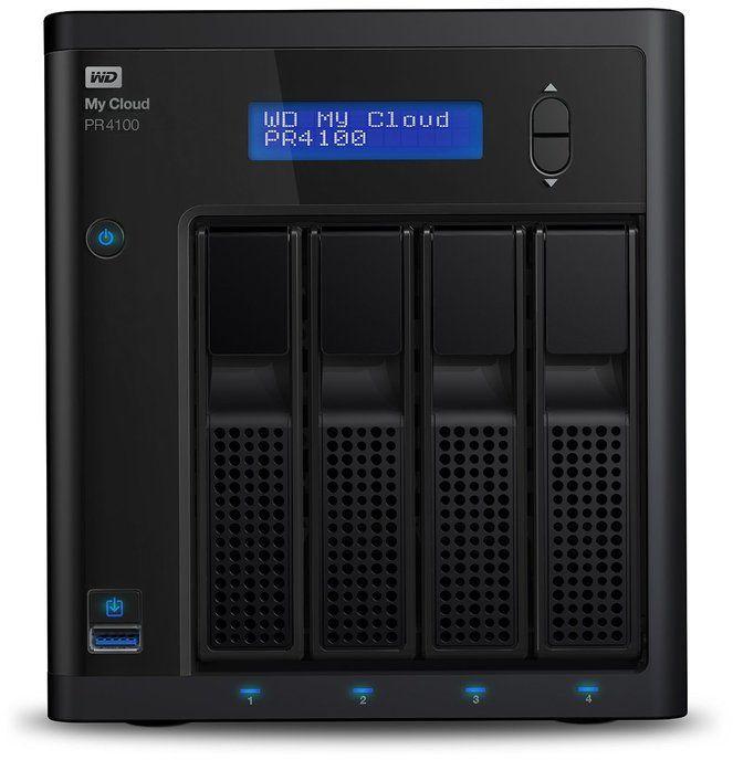 WD 16TB My Cloud Pro Series PR4100 Network Attached Storage - NAS - WDBNFA0160KBK
