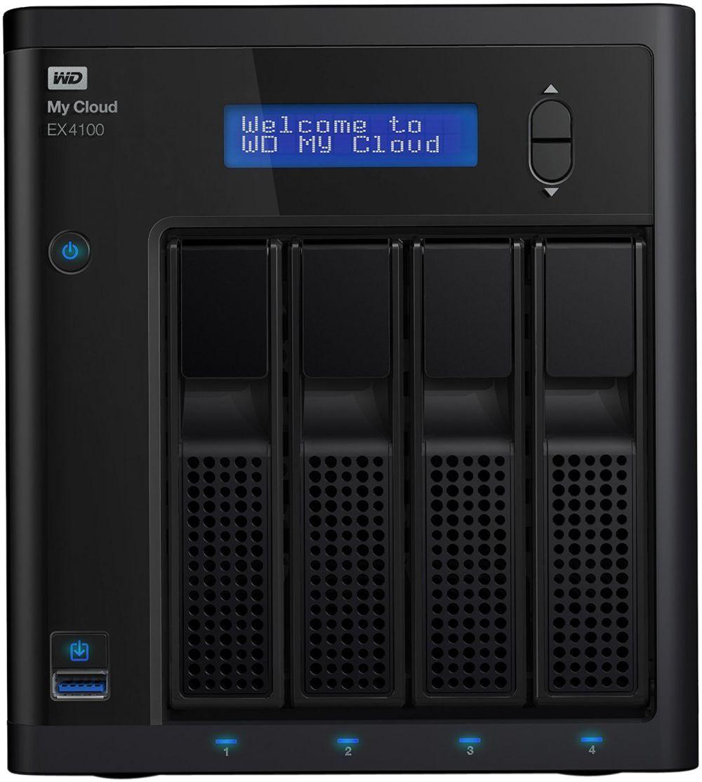 WD 24TB My Cloud EX4100 Expert Series 4-Bay Network Attached Storage - NAS - WDBWZE0240KBK
