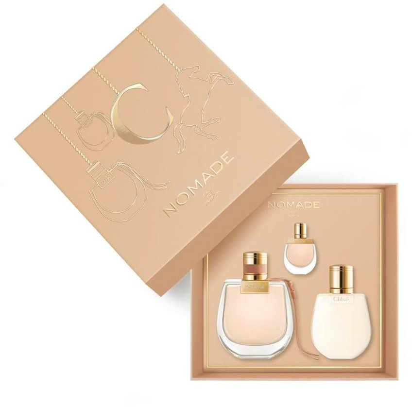 CHLOE NOMADE (W) SET EDP 75 ml plus EDP 5 ml plus PRFM BODY LOTION 100 ml