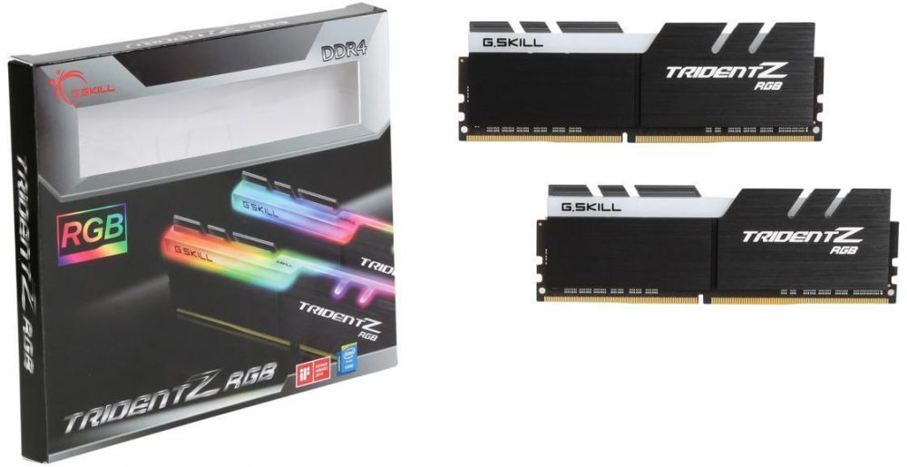 GSKILL TridentZ RGB Series 16GB (2 x 8GB) 288-Pin DDR4 3200 Desktop Memory Model F4-3200C16D-16GTZR
