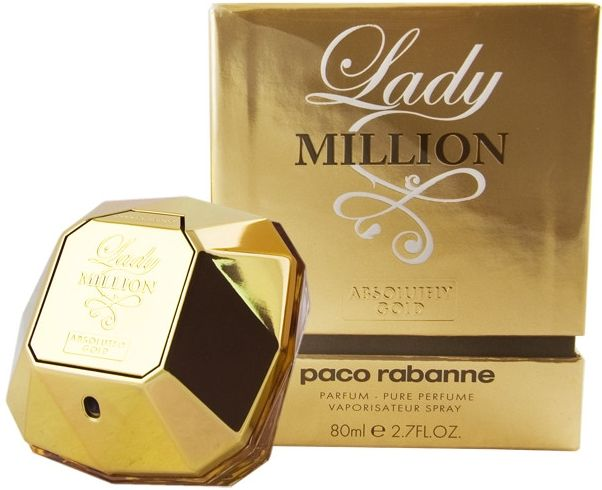 Lady Million Absolutely Gold by Paco Rabanne for Women - Eau de Parfum, 80ml