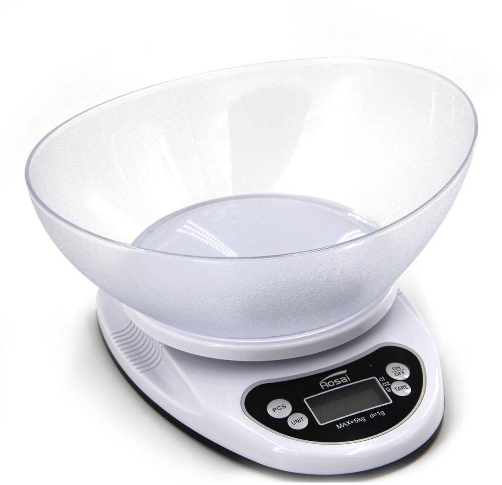 ميزان طعام إلكتروني مع شاشة LCD لوزن الطعام حتى 5 كيلوجرام
