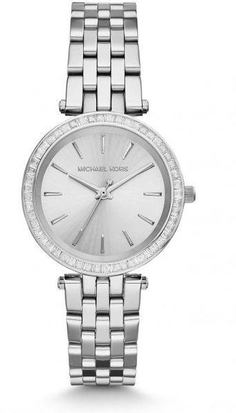 Michael Kors Petite Darci Watch for Women - Analog Stainless Steel Band - MK3364