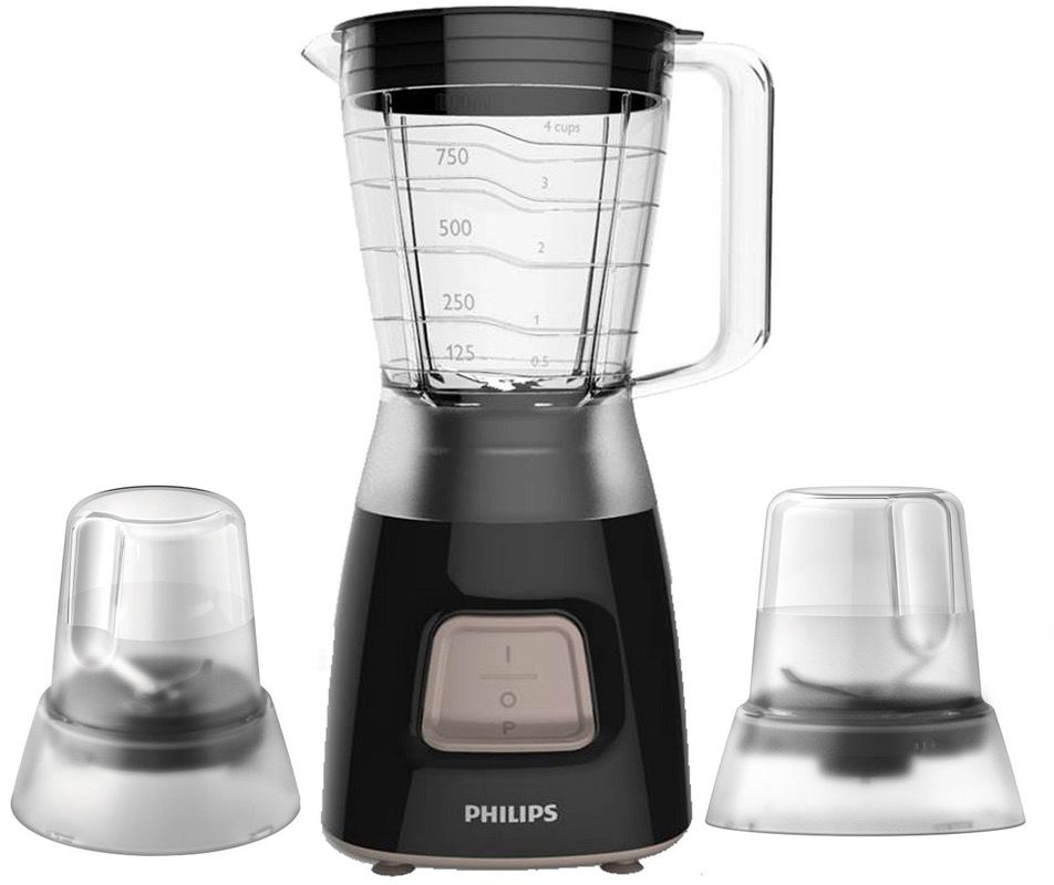 Philips 1.25 Liter Daily Collection Blender - HR2058, Black, Plastic