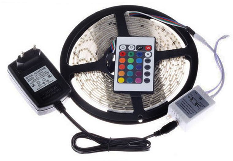 RGB Waterproof Led Strip With Flexible Light 3528 5M 300 LED SMD with RGB Remote Control