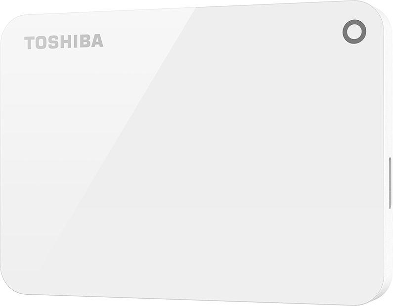 Toshiba 2TB Canvio Advance Portable USB3.0 Hard Drive White -HDTC920EW3AA