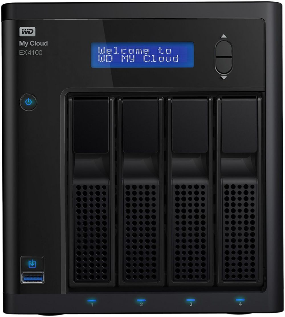 WD 24TB My Cloud EX4100 Expert Series 4-Bay Network Attached Storage - NAS - WDBWZE0240KBK