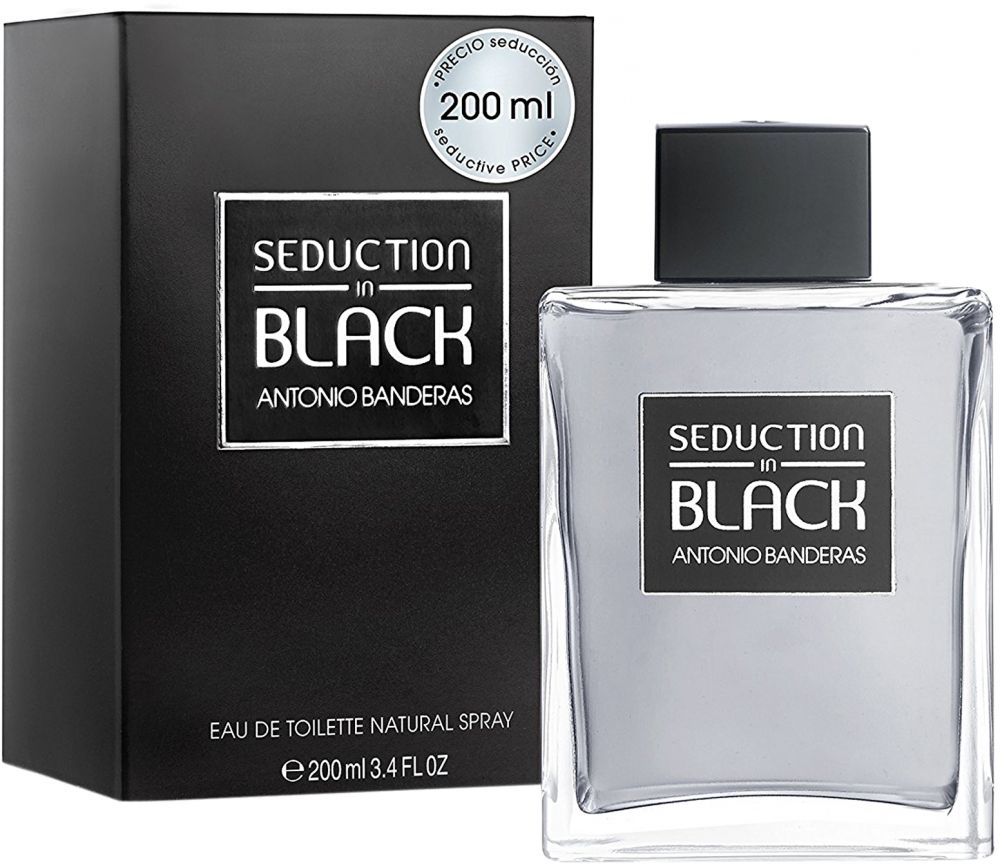 Black Seduction by Antonio Banderas for Men - Eau de Toilette, 200 ml