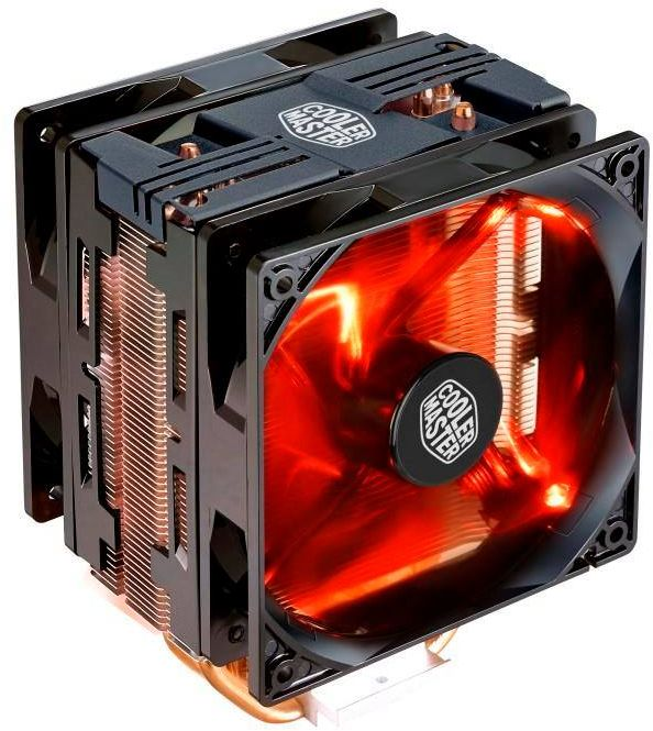 Cooler Master Hyper 212 LED Turbo CPU Cooler , RR-212TK-16PR-R1 (Black Top Cover)