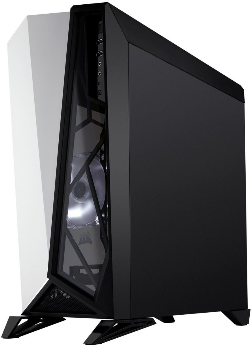 Corsair Carbide Series SPEC-OMEGA Mid-Tower Black/White Tempered Glass Gaming Case