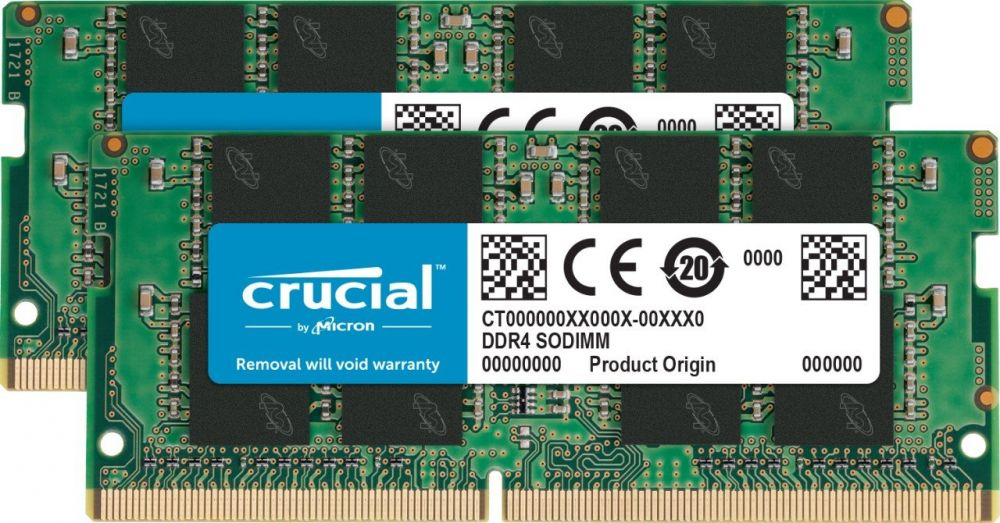 Crucial 8GB Kit (4GBx2) DDR4 2400 MT/S (PC4-19200) SR x8 SODIMM 260-Pin Memory