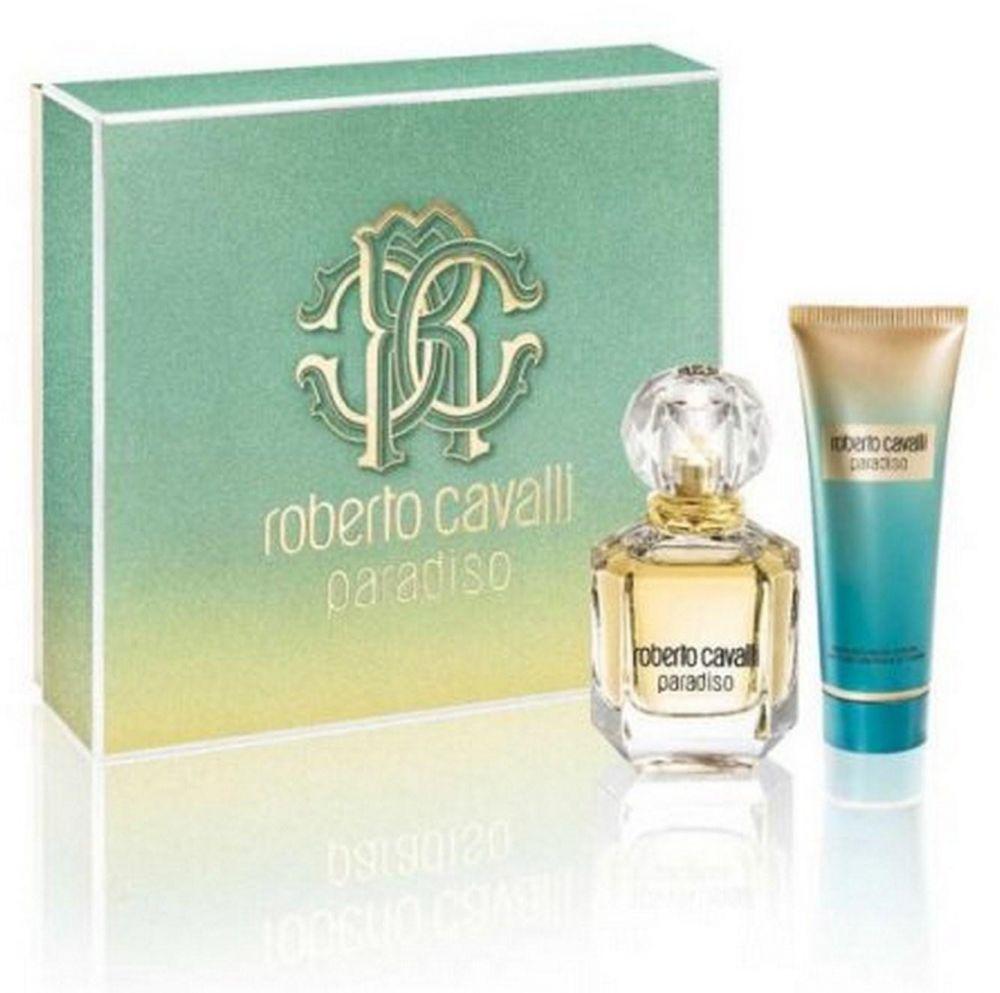 gift set Roberto Cavalli paradiso EDP 50 ML + Body Lotion 75ML