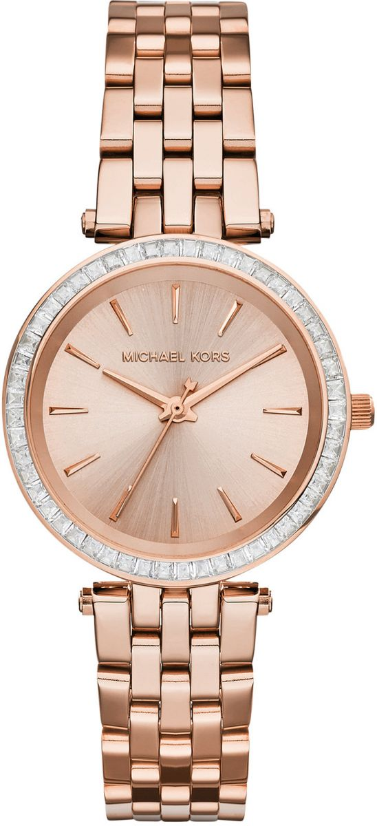 Michael Kors Mini Darci Watch for Women - Analog Stainless Steel Band - MK3366
