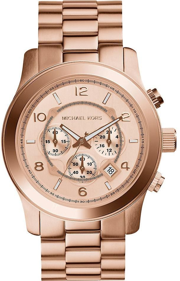 Michael Kors Runway Watch for Men - Analog Stainless Steel Band - MK8096