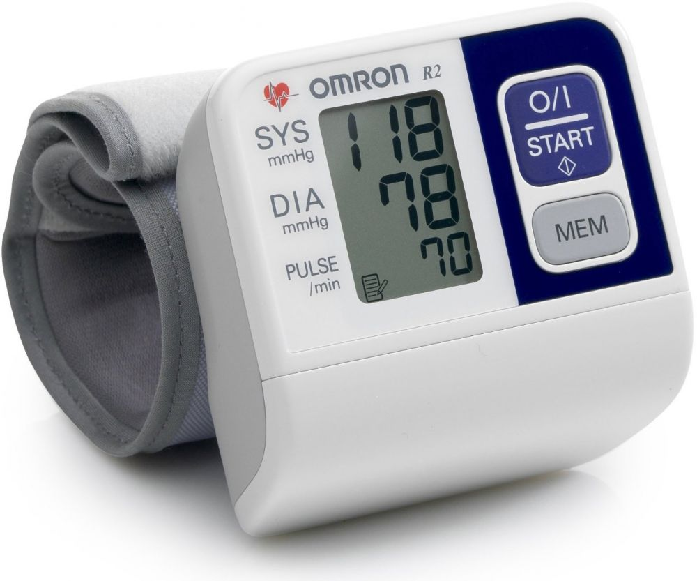Omron R2 جهاز قياس الضغط على المعصم