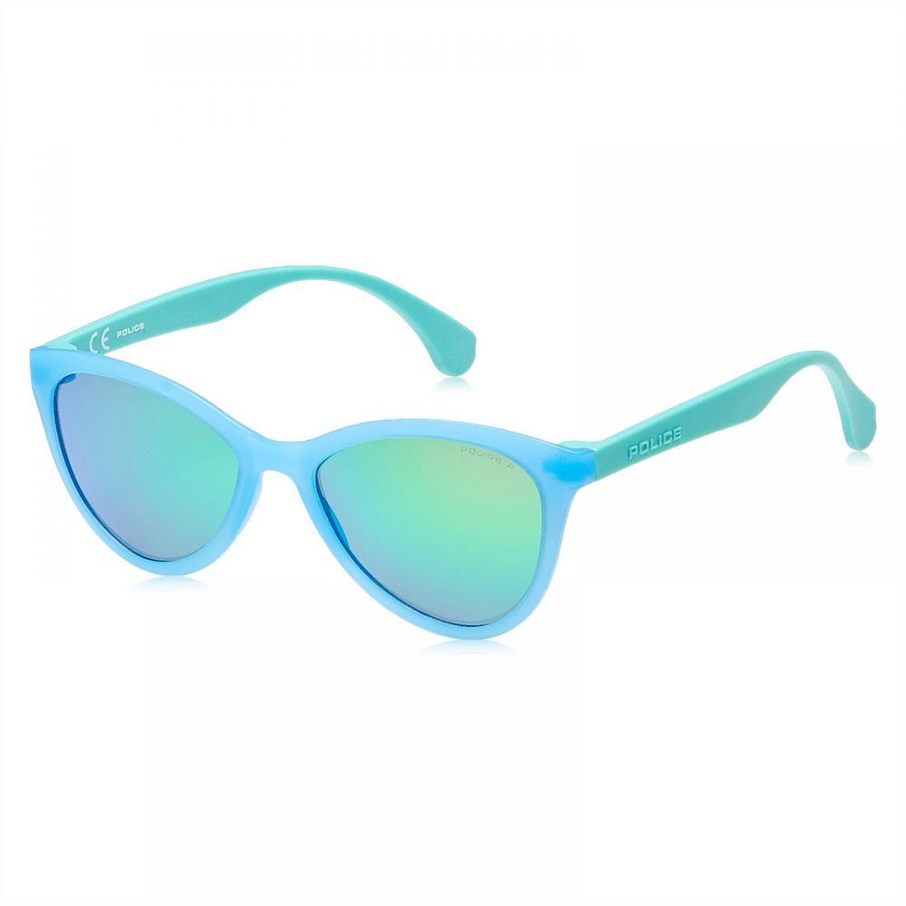 Police Oval Unisex Sunglasses - 8654715V, Blue Lens