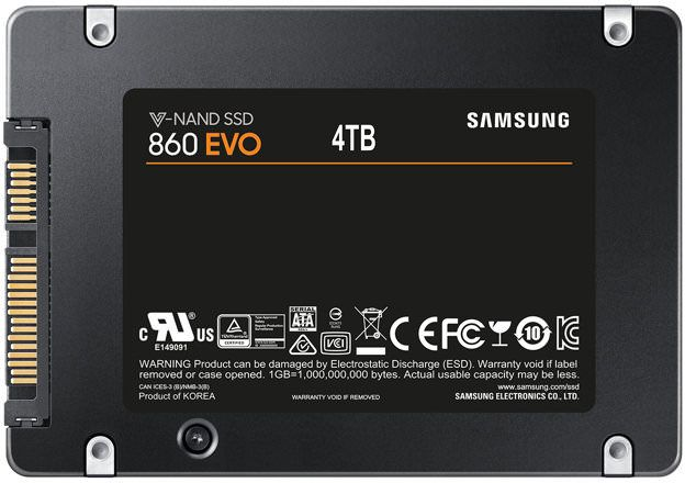 Samsung 860 EVO 4TB 2.5 inch SATA Internal SSD - MZ-76E4T0B