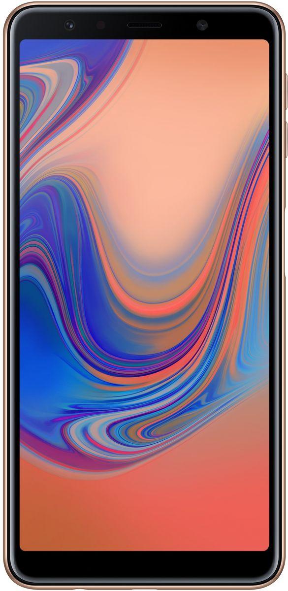 Samsung Galaxy A7 2018 Dual SIM - 128GB, 4GB RAM, 4G LTE, Gold, 6 Inch