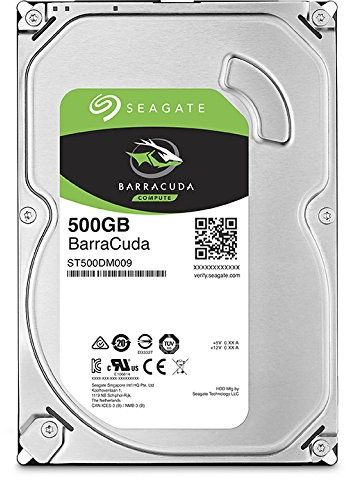 Seagate Seagate Barracuda 500GB Internal Hard Drive HDD – 3.5 Inch SATA 6 Gb/s 7200 RPM 32MB Cache for Computer Desktop PC (ST500DM009)