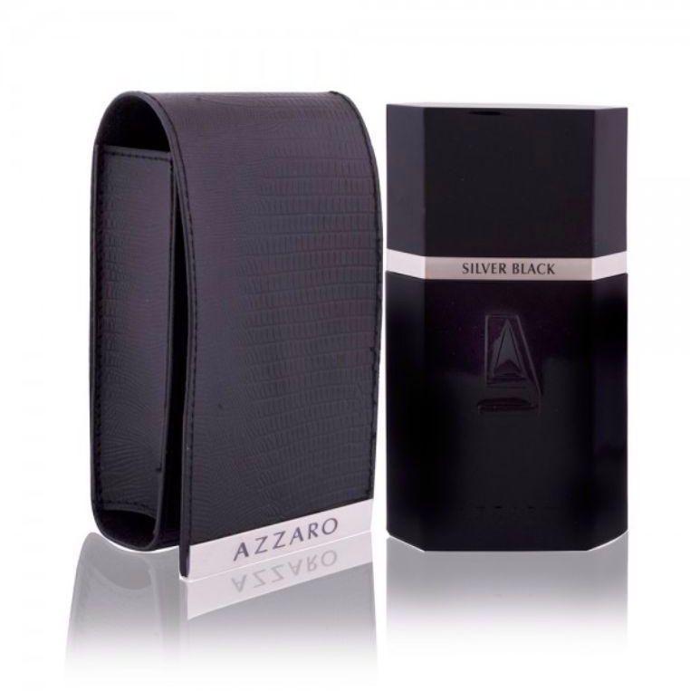 Silver Black Leather Collector Edition by Azzaro for Men - Eau de Toilette, 100ml