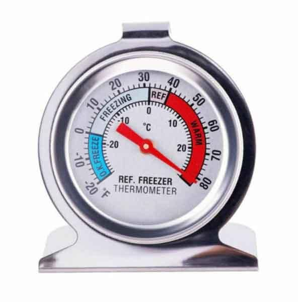 Stainless steel refrigerator freezer thermometer hanging refrigerator home