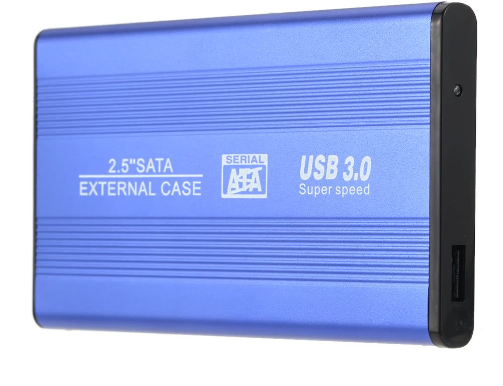 "Superspeed USB 3.0 HDD SSD SATA External Aluminum 2.5"" Hard Drive Disk Box Enclosure Case up to 1TB"
