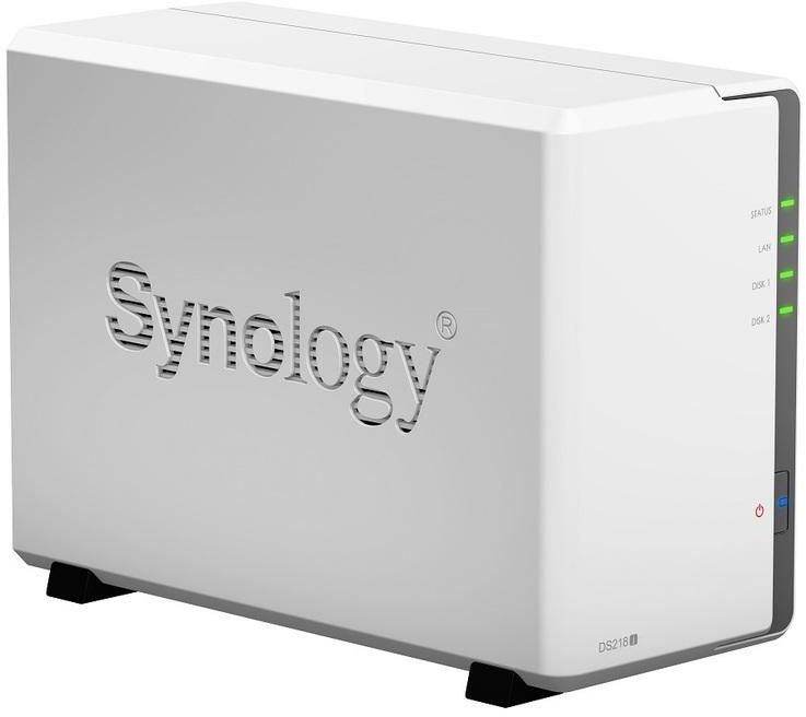 Synology DiskStation DS218j 2 Bay Diskless NAS Dual Core CPU 512MB RAM